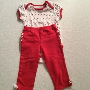 BABY GIRL 6-9 MONTHS OUTFIT